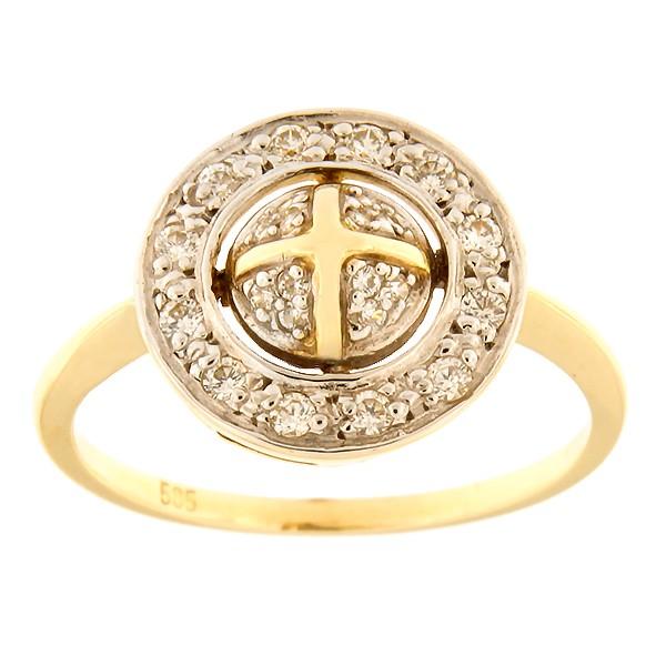 Kullast sõrmus tsirkoonidega Kood: 602wp479