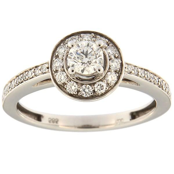 Kullast sõrmus teemantidega 0,46 ct. Kood: 65ae
