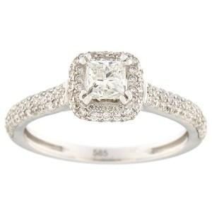 Kullast sõrmus teemantidega 1,00 ct. Kood: 67aa