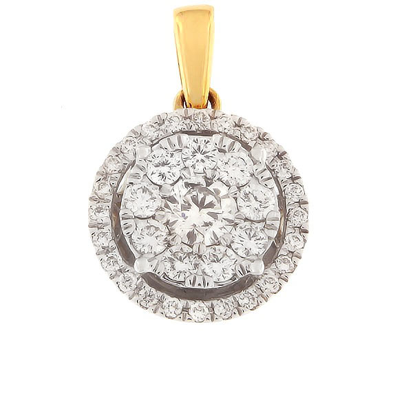 Gold pendant with diamonds 0,50 ct. Code: 74hb