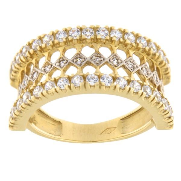 Kullast sõrmus tsirkoonidega Kood: 71pe, 74pe