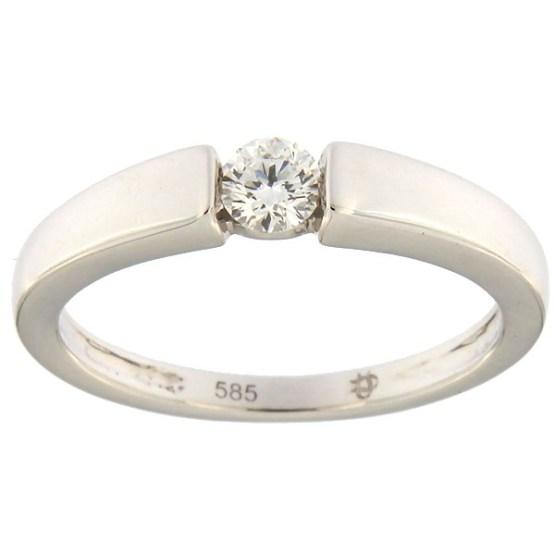 3ae456b3b3d Esileht / Ehted / Kihlasõrmused / Kullast sõrmus teemantiga 0,14 ct. Kood:  75af