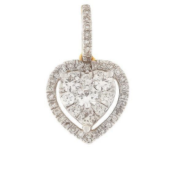 Kullast ripats teemantidega 0,33 ct. Kood: 76ha