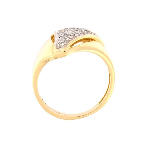 Kullast sõrmus tsirkoonidega Kood: 7pa-1