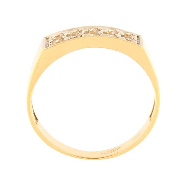 Kullast sõrmus tsirkoonidega Kood: 92pt-1
