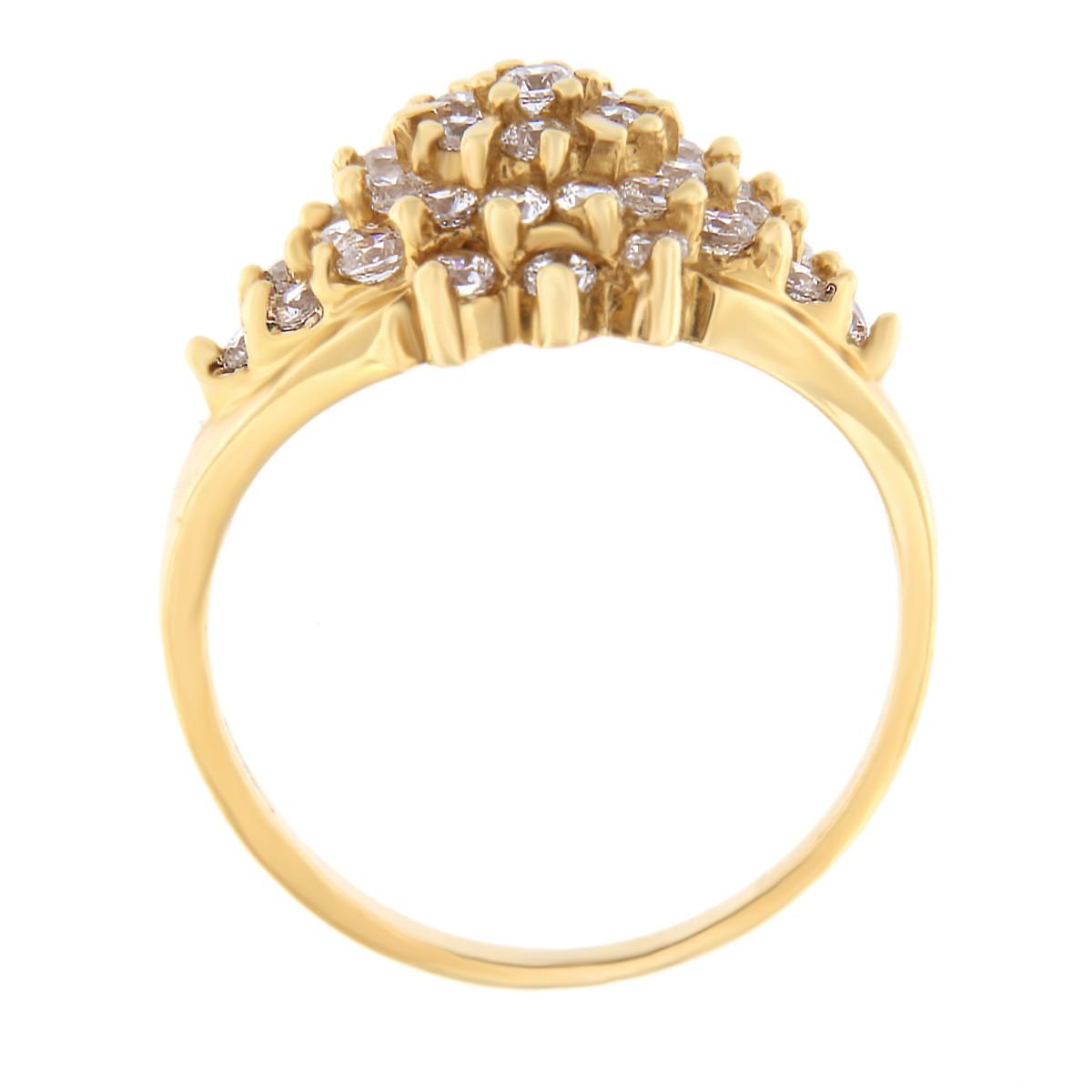 Kullast sõrmus tsirkoonidega Kood: 261pe, 95pt külg