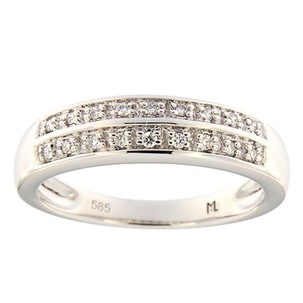 Kullast sõrmus teemantiga 0,09 ct. Kood: 97ak