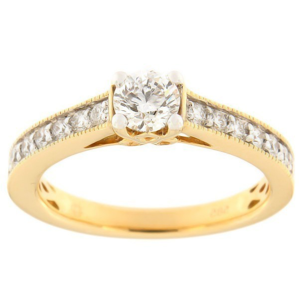 Gold ring with diamonds 0,67 ct. Code: 98af