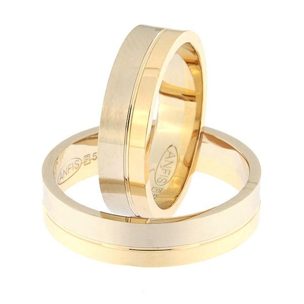 Kullast abielusõrmus Kood: rn0152-5-1/3kl-2/3vm1