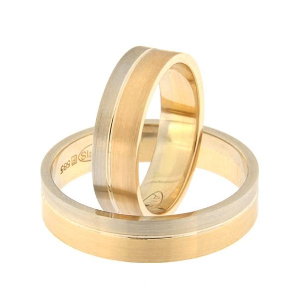 Kullast abielusõrmus Kood: rn0152-5-1/3vm1-2/3km1