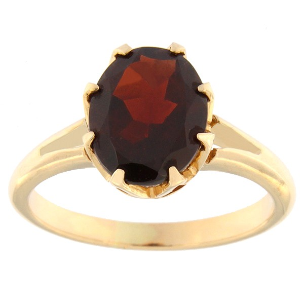 Gold ring with garnet Code: rn0165-granaat