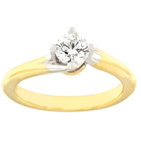 Золотое кольцо с бриллиантoм 0,50 ct. Kод: c8029unik