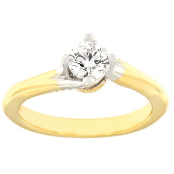 Gold ring with diamond 0,50 ct. Code: c8029unik