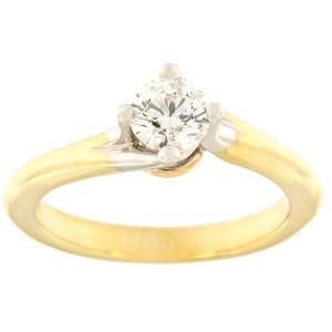 Kullast sõrmus teemantiga 0,50 ct. Kood: c8029unik