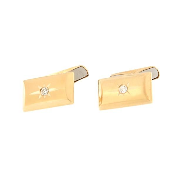 Kullast mansetinööbid teemandiga Kood: cl0110