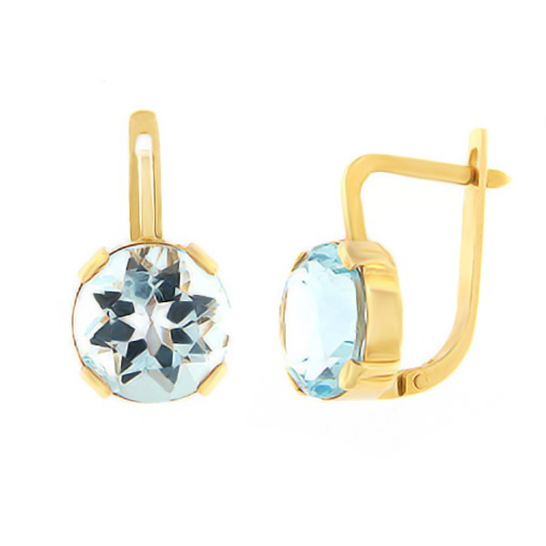 Gold earrings with topaz Code: er0136-topaas