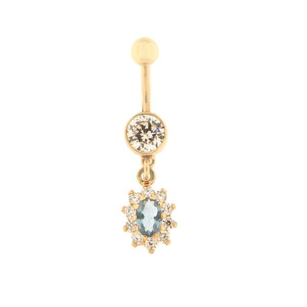 Kullast nabarõngas tsirkooniga Kood: pn0140-D-valge-sinine