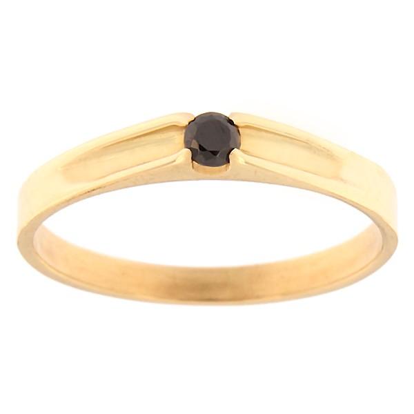Kullast sõrmus tsirkooniga Kood: rn0121-must