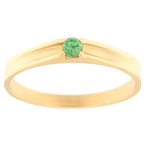 Kullast sõrmus tsirkooniga Kood: rn0121-roheline