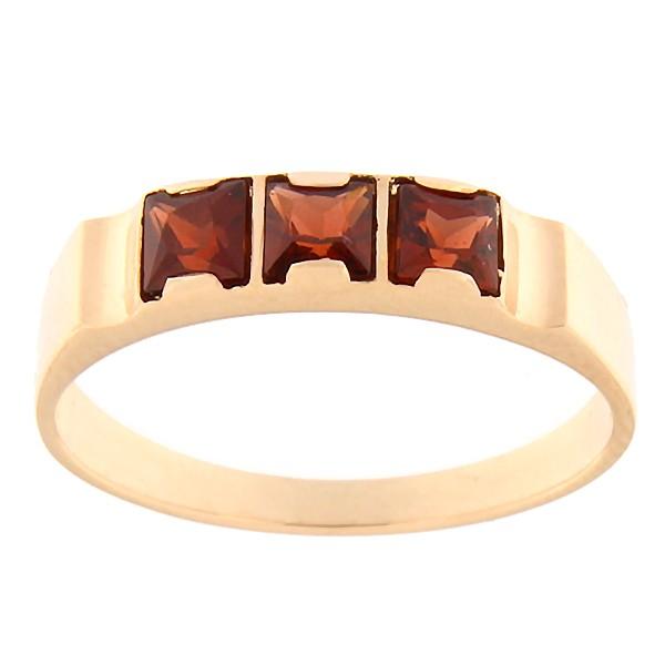 Gold ring with garnet Code: rn0128-granaat