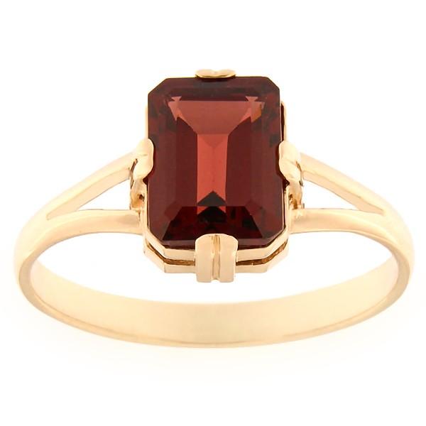 Gold ring with garnet Code: rn0129-granaat