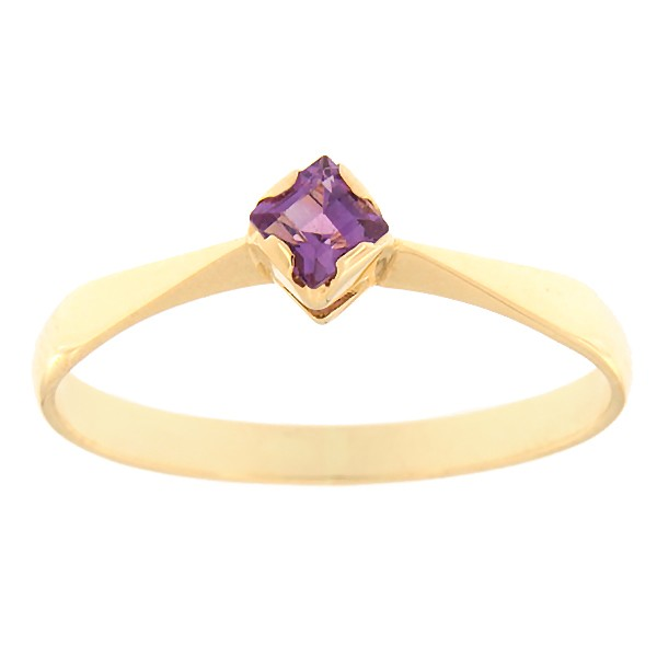 Gold ring with amethyst Code: rn0135-ametyst