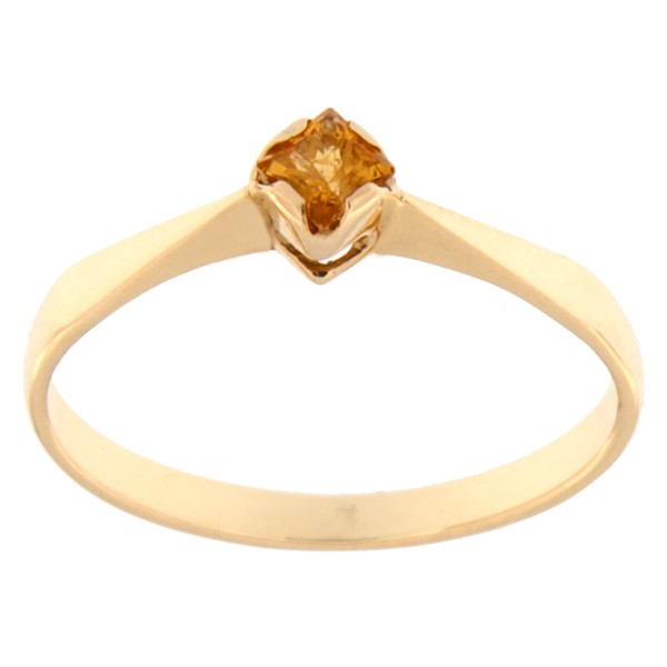 Gold ring with citrine Code: rn0135-zitriin