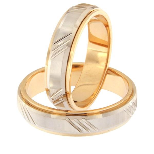 Золотое обручальное кольцо Kод: rn0138-5d-pv-ak