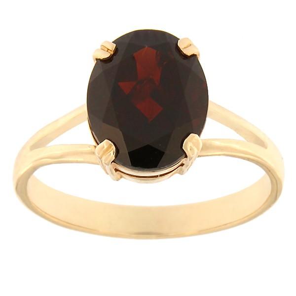 Gold ring with garnet Code: rn0146-granaat