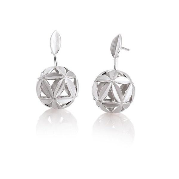 Серебряные серьги с белым сапфиром Kод: 12030390