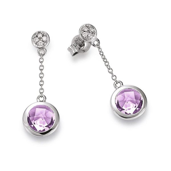 Viventy earrings with amethyst Code: 777894