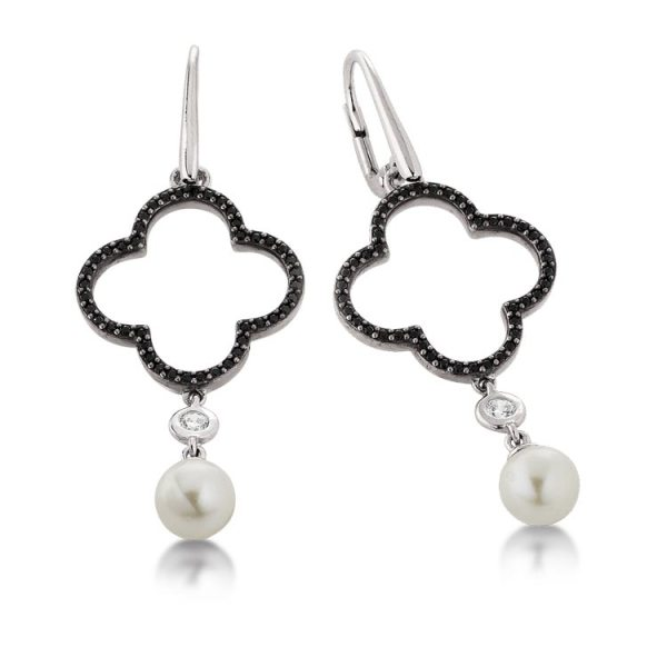 Viventy silver earrings with freshwater pearl Code: 779304