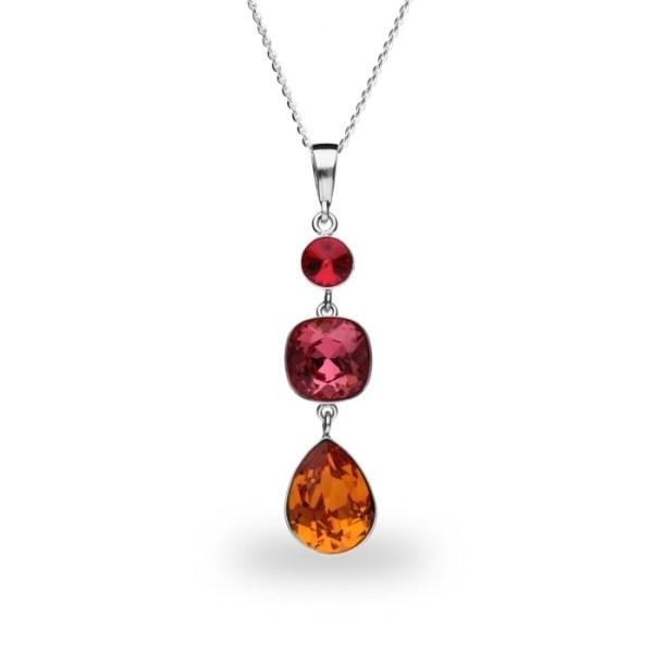 Hõbedast ripats Swarovski® kristallidega Kood: NT43201LSITG1