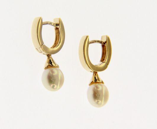 Kullast kõrvarõngad pärlitega Kood: 199938