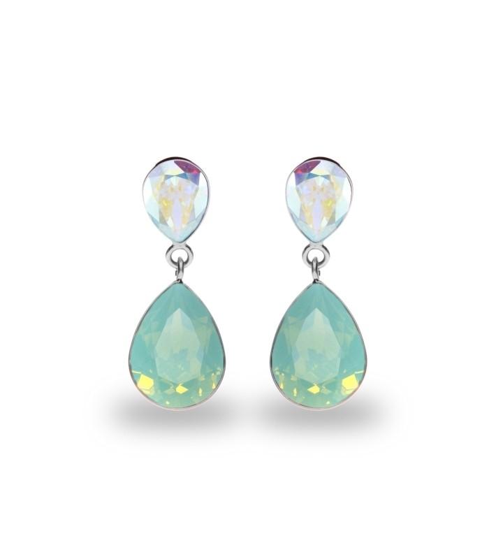 Hõbedast kõrvarõngad Swarovski® kristallidega Kood: K43202ABPO