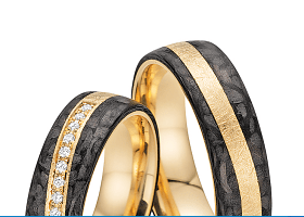 Fischer abielusõrmused - Kollektsioon carbon