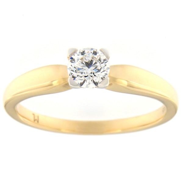 Kullast sõrmus teemantiga 0,40 ct. Kood: 104at