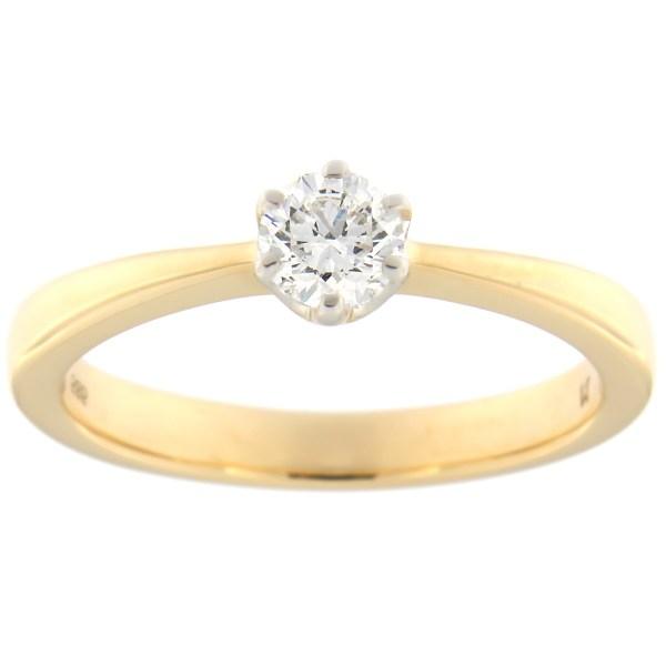 Kullast sõrmus teemantiga 0,40 ct. Kood: 58at