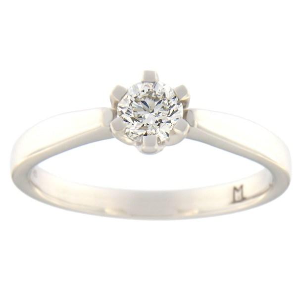 Kullast sõrmus teemantiga 0,38 ct. Kood: 86at