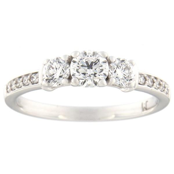 Kullast sõrmus teemantidega 0,76 ct. Kood: 93at