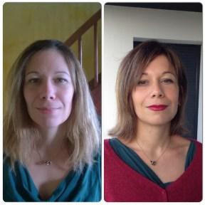 Relooking coiffure Avant/Aprés