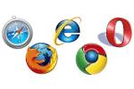 Przeglądarki: IE, Opera, Firefox, Chrome, Safari