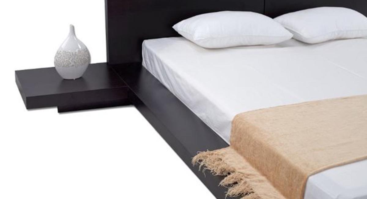 Fujian Modern Platform Bed Espresso Matisseco