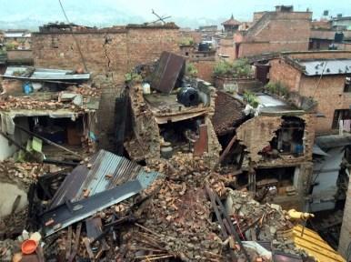 Nepalin maanjäristyksen raunioita