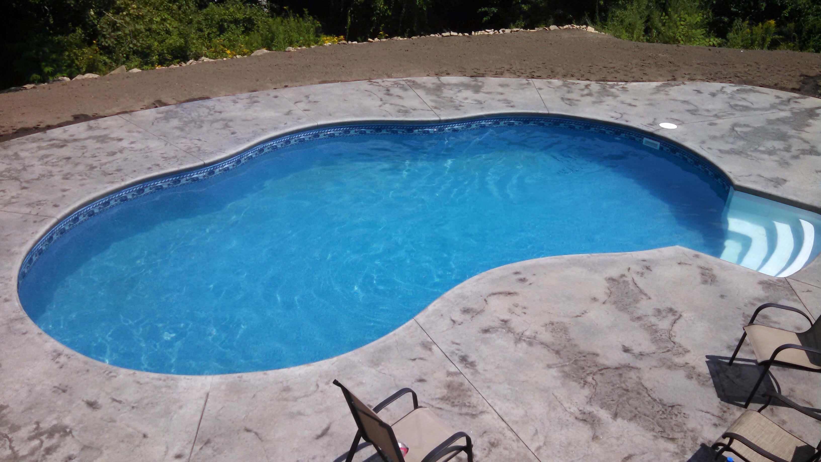 Installation of Westford MA Inground Swimming Pool