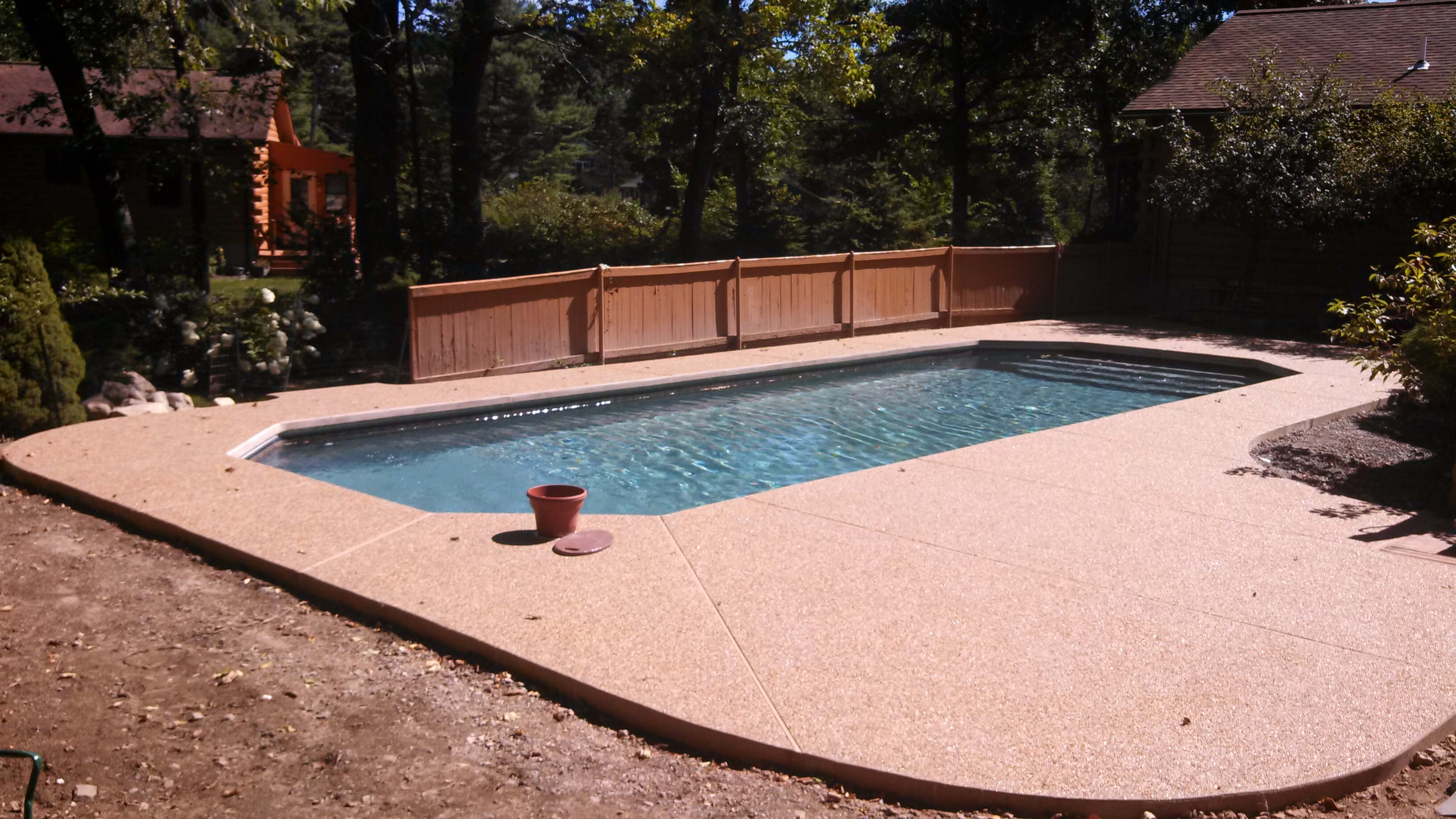 Dunstable MA Custom Inground Swimming Pool Installation