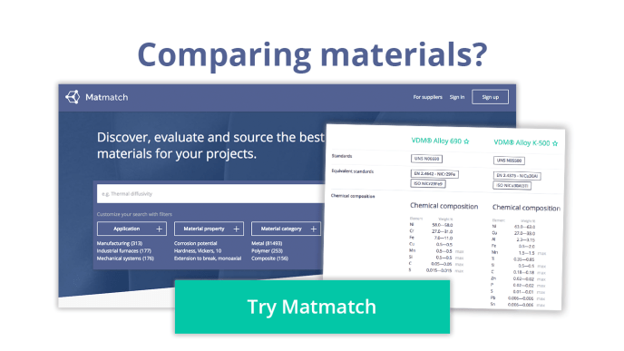 comparing materials? try matmatch