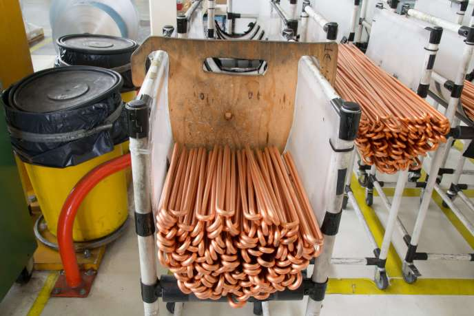 Copper tubes for heat exchangers.