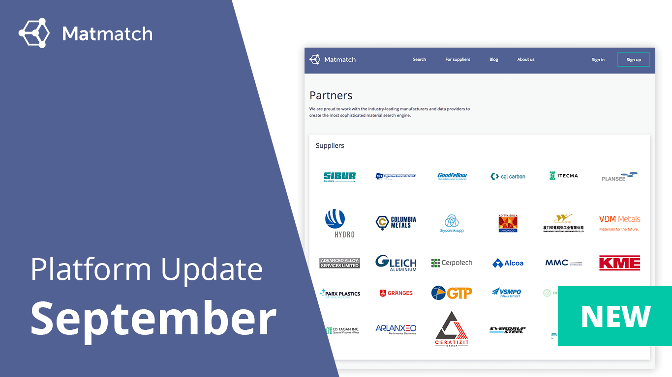 Platform Update September 2018 Matmatch