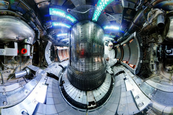inside the fusion reactor